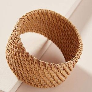 NWOT Anthropologie Wicker Bangle Bracelet